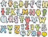 Cartoon alphabet characters vector — Stock Vector