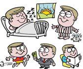 Vector cartoon of happy, healthy, wealthy man. — Stock Vector