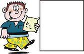 Wektor kreskówka szczęśliwy chłopiec z słodycze — Wektor stockowy