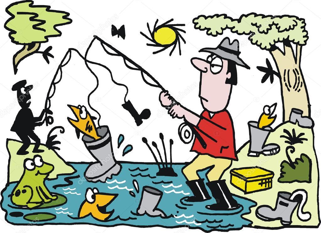 рассказ про рыбалку на английском языке