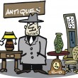 Vector cartoon of second-hand furniture dealer — Imagen vectorial