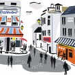 Vector illustration of Montmartre, Paris, France. — Stock Vector #26343655