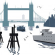 London bridge illustration — Stock Vector