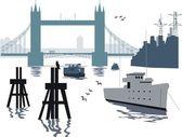 London bridge illustration — Stock Vector