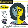 Royalty-Free Stock Imagen vectorial: Vector illustration of woman with coffee signs and cup.