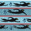 Vector illustration of swimmers racing in pool - Imagen vectorial