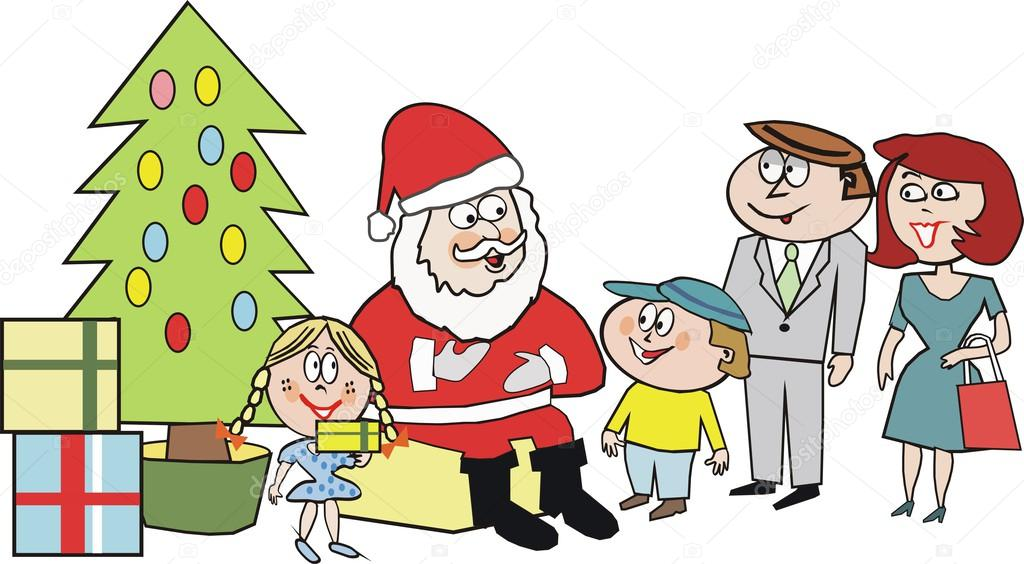 Dibujos animados de santa claus con regalos de navidad - Regalos navidad padres ...