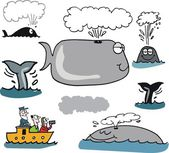 Vector illustration of whale — Stock Vector