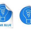 Think blue stickers — Stock Vector #24923501