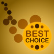 Royalty-Free Stock Vector Image: Circle best choice
