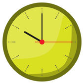 Watch yellow green coming soon — Vector de stock
