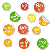 Circle labels discount — Stock Vector