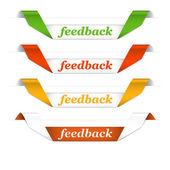 Strisce feedback — Vettoriale Stock