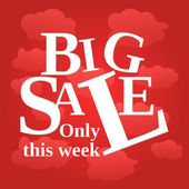 Sale poster week — Stock Vector