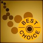 Circle best choice 2 — Stock Vector