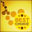 Circle best choice — Stock Vector
