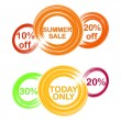 Cicle theme summer discount — Stock Vector