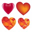 Valentine hearts collection — Stock Vector