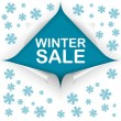 Winter sale curled corners — Stockvektor