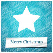 Stock Vector: Merry christmas blue star