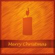 Merry christmas orange candle dark — Stock Vector