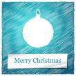 Merry christmas blue ball — Stock Vector