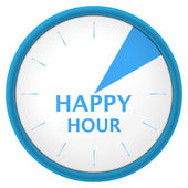 Watch blue arabic happy hour — Stock Vector