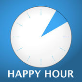 Watch blue arabic happy hour 2 — Stock Vector