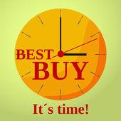 Ver resto mejor comprar plana — Vector de stock