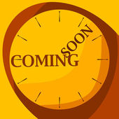Watch yellow coming soon — Stock Vector