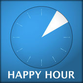Watch blue arabic happy hour 3 — Stock Vector