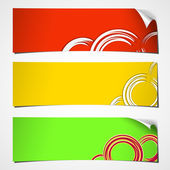 Banners curled summer — Stock Vector