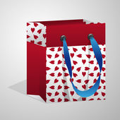 Valentine gift bag — Stock Vector