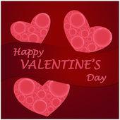 Happy valentine's day hearts card — Stock Vector