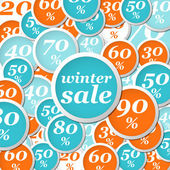 Winter circle labels discount — Stock Vector