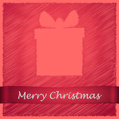 Merry christmas light red gift — Stock Vector