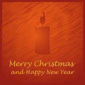 Wesołych świąt bożego narodzenia pomarańczowy świeca — Wektor stockowy