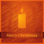 Merry christmas orange candle light — Stock Vector