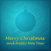 Merry christmas blue ball light — Stock Vector