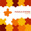 Puzzle system orange — Stock Vector