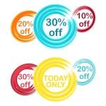 Circle theme discount — Stock Vector