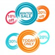Cicle theme winter discount — Stock Vector