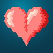 Triangle heart — Stock Vector