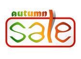 Sale card autumn — Stock Vector