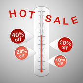 Hot sale thermometer — Stock Vector