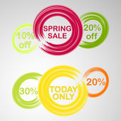 Cicle theme spring discount — Stock Vector