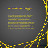 Dark abstract geometric background — Stockvektor