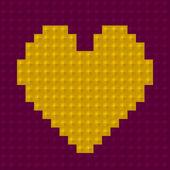 Square shape heart — Vettoriale Stock