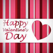 Happy valentine heart card — Stock Vector