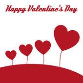 幸せなバレンタインの心のカード — ストックベクタ